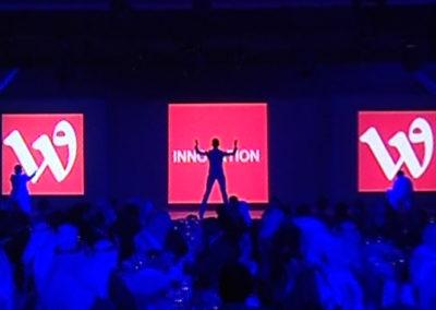 Spectacle de danse interactive et futuriste au Qatar pour Wataniya