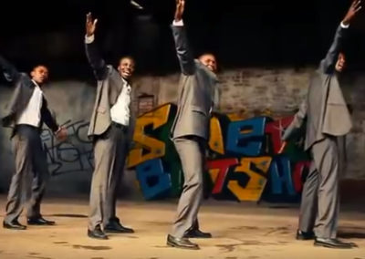 Coaching du groupe Soweto Entsha pour Indigo Production
